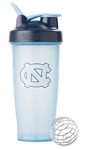 BlenderBottle Classic NCAA Collegiate Shaker Bottle University of North Carolina - Light BlueDark Blue 28-Ounce