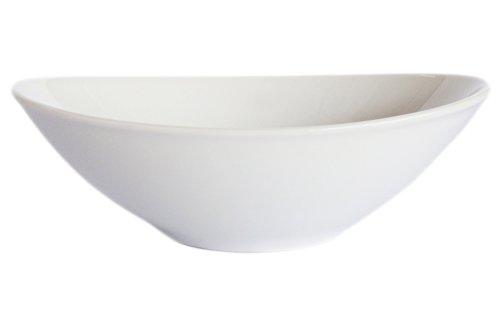 Set of 6 Amatahouse Elegant Oval Soy Sauce Dish 3-34 Sushi Wasabi Plates Soy Sauce Dipping Bowls Royal Porcelain Classic White 0299