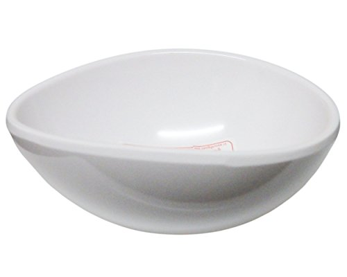 Set of 6 Amatahouse Oval Soy Sauce Dish Sushi Wasabi Plates Soy Sauce Dipping Bowls SW Melamine Cream 3 inch D2044 10 oz