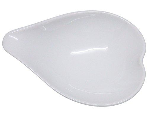 Set of 6 Amatahouse Elegant Canape Heart Shape P4321 Soy Sauce Dish Sushi Wasabi Plates Soy Sauce Dipping Bowls Royal Porcelain Classic White 2 34