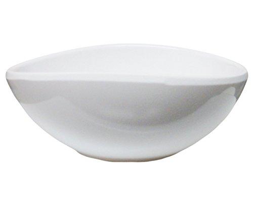 Set of 6 D2044 Amatahouse Oval Soy Sauce Dish Sushi Wasabi Plates Soy Sauce Dipping Bowls FW Melamine 10 oz CreamWhite 3