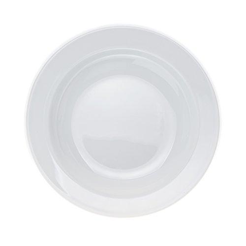 6-Piece DinnerSoupDessert Plates Set White Porcelain Restaurant&Hotel Quality 9 Soup Plates