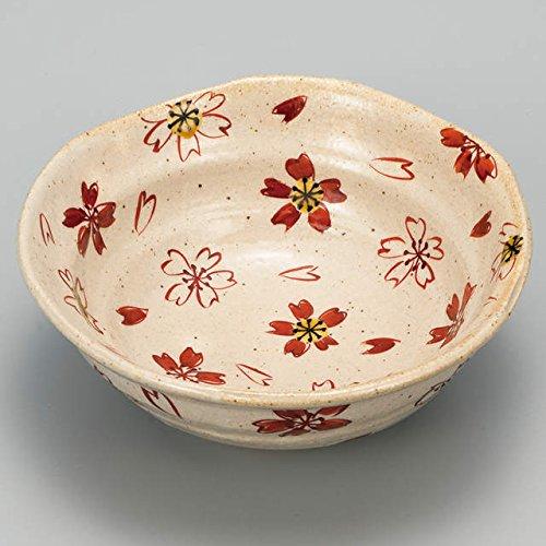 Japanese Ceramic Porcelain kutani ware Serving dish Salada plate Cerry blossom Japanese ceramic Hagiyakiya 236