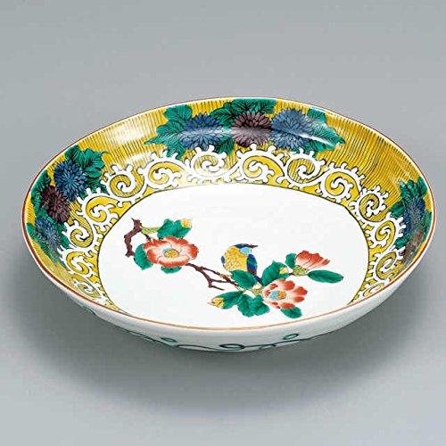 Japanese Ceramic Porcelain kutani ware Serving dish Salada plate Flower Japanese ceramic Hagiyakiya 224