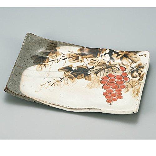 Japanese Ceramic Porcelain kutani ware Serving dish Salada plate Grape Japanese ceramic Hagiyakiya 210