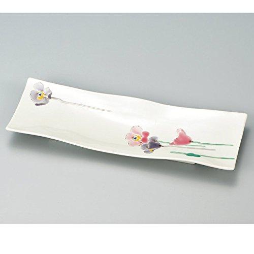 Japanese Ceramic Porcelain kutani ware Serving dish Salada plate Poppy Japanese ceramic Hagiyakiya 211