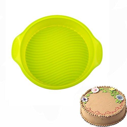 Silicone Bundt Cake Pan Cake MoldBPA Free9 Inch thinThickened Large Yellow