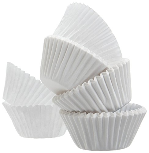 A World Of Deals Mini Muffin Baking Paper Cups Cupcake Liners White 500 Count