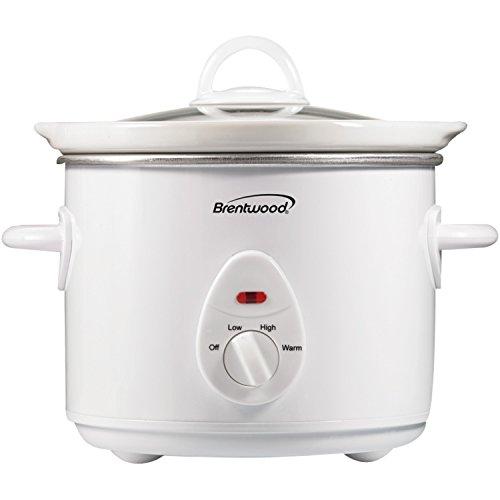 Brentwood SC-135W Appliances 3 quart Slow Cooker White