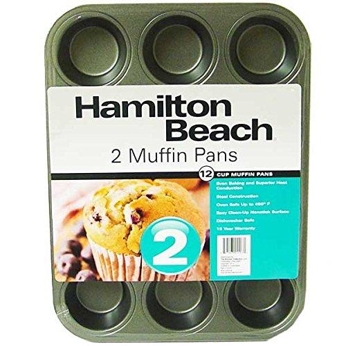 Hamilton Beach Set of 2 Nonstick 12-Cup Muffin Pans
