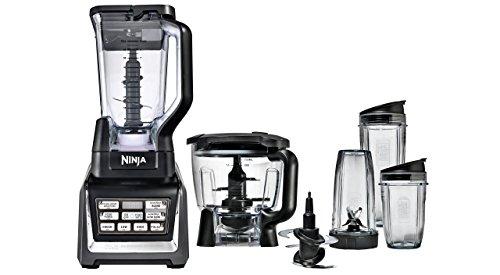 Nutri Ninja BlenderFood Processor with Auto-iQ 1200-Watt Base 72oz Pitcher 64oz Processor Bowl 18 24 and 32oz Cups and Prep Blades BL682 Renewed
