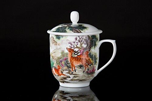 Guan Ci Sika Deer Chinese Porcelain Tea Cup