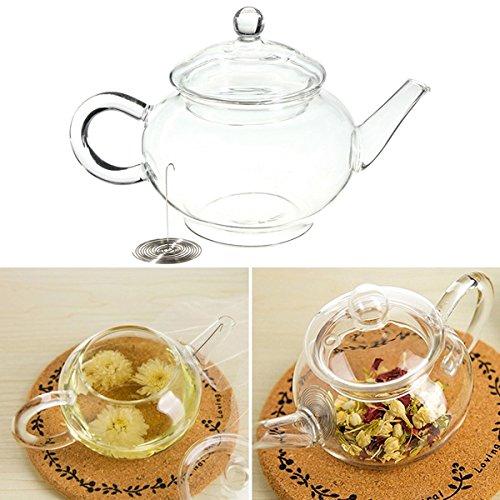 250ml 85oz Glass Teapot Heat Resistant Tea Kettle