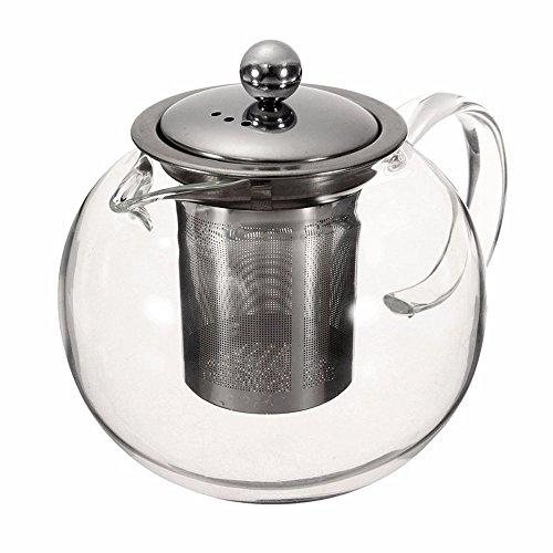 StarForest Heat Resistant Glass Tea Pot Flower Tea Set Pure kettle Coffee Teapot With Infuser 1000ML