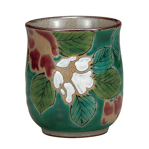 Japanese Yunomi Tea Cup Camellia KUTANI YAKIware