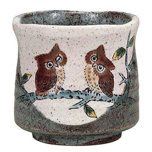 Japanese Yunomi Tea Cup Owl KUTANI YAKIware