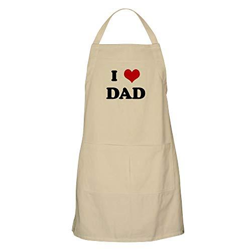 CafePress-I Love DAD BBQ Apron
