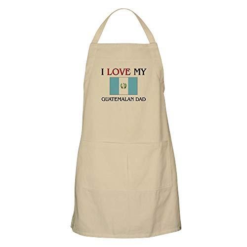 CafePress I Love My Guatemalan Dad BBQ Apron Kitchen Apron with Pockets Grilling Apron Baking Apron