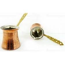Turkish Coffee Pot Cezve Jazva Jazwa Ibrik Briki 100 Copper  5 sizes available  XL - 5 cups