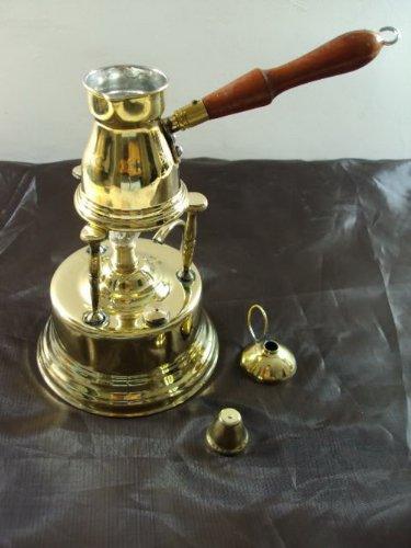 Brass Turkish Coffee Maker Alcohol Burner  Pot Ibrik 428