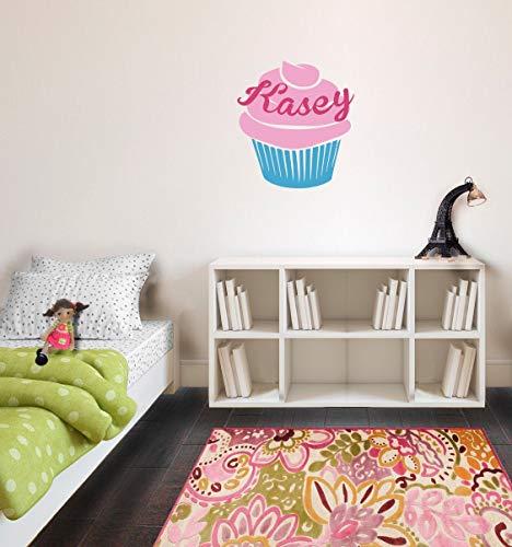 CLIFFBENNETT Custom Name Cupcake - Wall Decal Custom Vinyl Art Stickers for Homes Remodelers Cabins Interior Designers