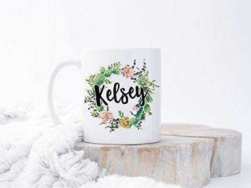 Floral Name Cup Mug Gift Custom Name Cup Mug Gift Personalized Cup Mug Gift Custom Coffee Cup Mug Gift Monogram Cup Mug Gifts Personalized Gift Bridesmaid Cup Mug Gift Custom Name Cup Mug Gifts