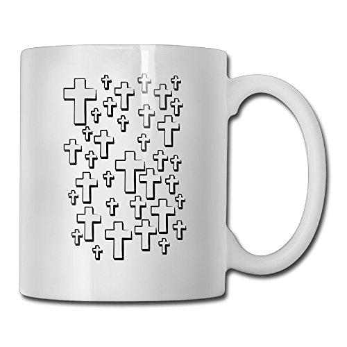 CROSS Symbol White Mug Personalized Mug Design Ceramic CoffeeTeaMilk Mug