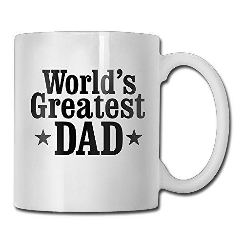 Worlds Classic Greatest Dad White Mug Personalized Mug Design Ceramic CoffeeTeaMilk Mug
