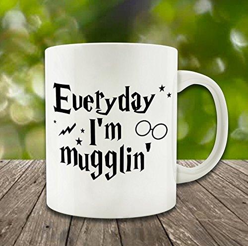 Generic Everyday IM Mugglin White Ceramic Tea Coffee Mugs Personalized Mug Cup Family Friends Holiday Birthday Gift Mug 11 oz