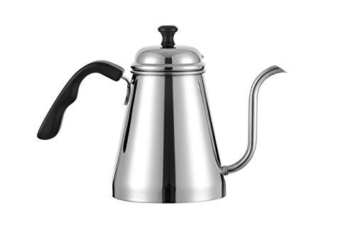 Meelio Pour Over CoffeeTea Kettle1 Liter Gooseneck Drip Coffee Pot188 Stainless Steel Stovetop Tea Pot with Easy Grip Handle and Gooseneck Spout