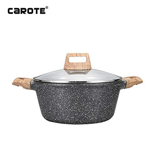Carote 95 inch43 Quart Non-stick Granite Stone Coating Casserole Dish with lid