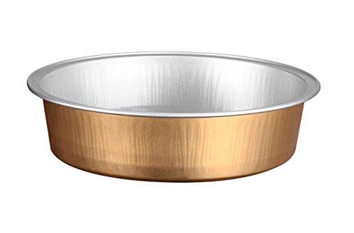 KEISEN 4 23 8oz 24PK Disposable Aluminum Foil Cups 215ml for Muffin Cupcake Baking Bake Utility Ramekin Cup Gold
