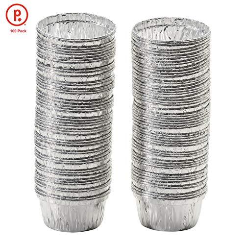 pinkada Disposable Aluminum Foil Ramekins Cupcake Pans Size 4 oz 100