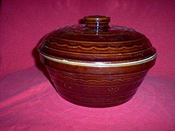 Mar-crest Oven Proof Stoneware Casserole Bean Pot