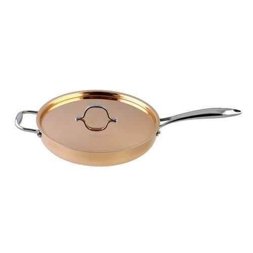 Le Chef 5-ply Copper Saute Pan with Copper Lid 3 ¾-qt