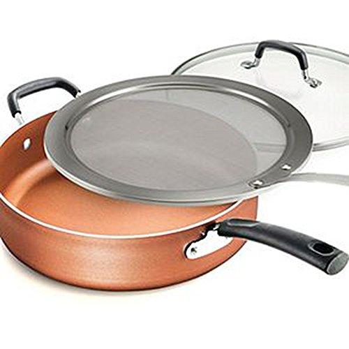 Tramontina Deep Saute Pan Set 3-piece Copper-55 QUART-Model 80151429