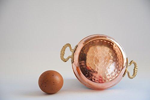 Turkish Traditional Handmade Mini Copper Egg - Omlette Pan - Mini Saute Pan - Mini Saucepan