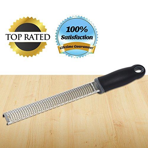 Lemon Zester Cheese Grater #1 Chef-rated Premium Tool 100% Lifetime Guarantee