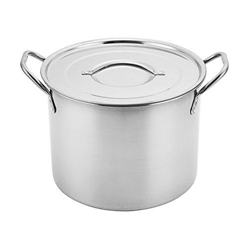 Aramco AI14437-6 Alpine Cuisine Gourmet Stock Pot 65-Quart Stainless Steel
