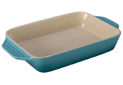 Le Creuset Stoneware Rectangular Dish, 12.5 By 8.25-inch, Caribbean
