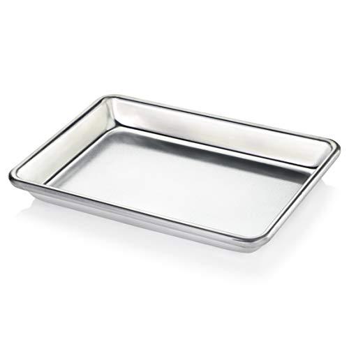 New Star Foodservice 33977 Commercial-Grade 18-Gauge Aluminum Sheet PanBun Pan 9 23 W x 6 23 L x 1 H 18 size