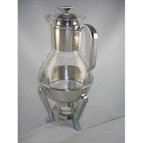Glitter Stainless Steel Teacoffee Warmer set