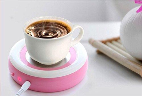 Surborder Shop Coffee Mug Warmer Desktop USB Electronics Heat Cup Warmer Pad Coffee Tea Mug Beverage Insulation Pad Plate