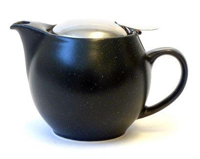 Bee House Ceramic Round Teapot MatteBlack
