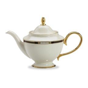 Lenox Hancock Gold Banded Ivory China Teapot