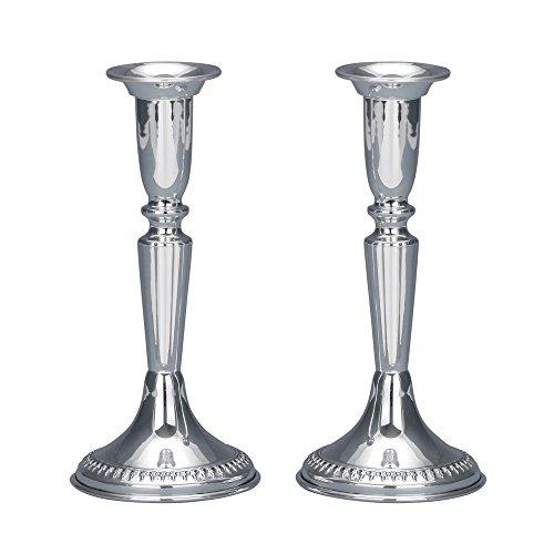 Filigree Silver Candlesticks - Small