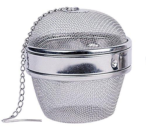 Maxware Stainless Steel One Piece 3 Inch Teaballspice Balltea Strainer Tea InfuserSeasoning Ball