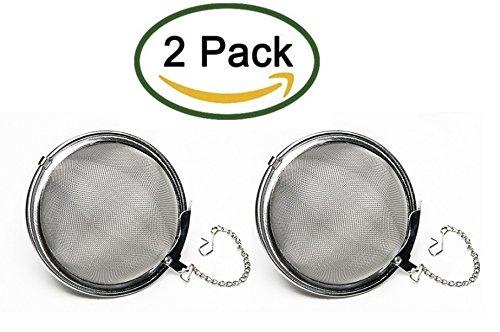 Nuk3y Stainless Steel Rust Resistant Mesh Tea Ball Strainer Filter Infuser Pack of 2