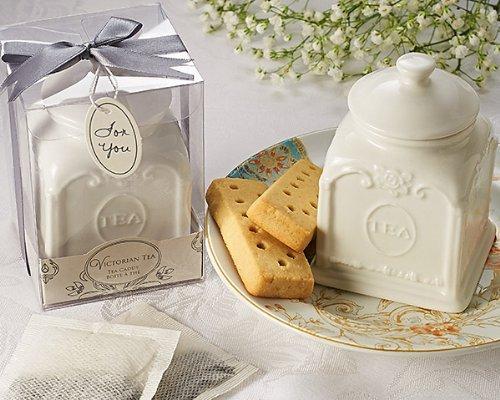 Artisano Designs Victorian Tea Porcelain Tea Caddy