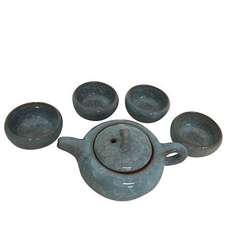 THY HOME Exquisite Glazed 5 PCS Ceramic Tea Set